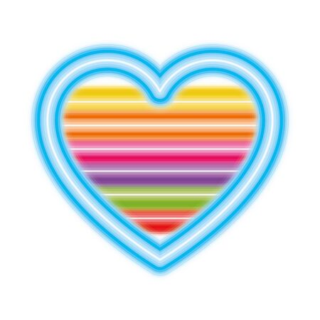 lgtbi striped heart design, Pride day love orientation and identity theme Vector illustration