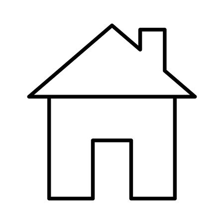 house front facade line style icon vector illustration design