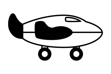 airplane kids toys on white background vector illustration