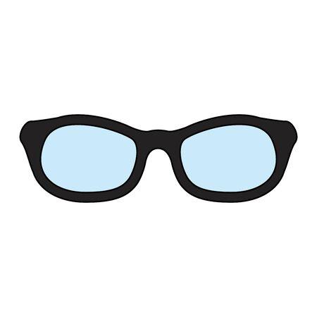 eyeglasses optical accessory isolated icon vector illustration design Vector Illustration