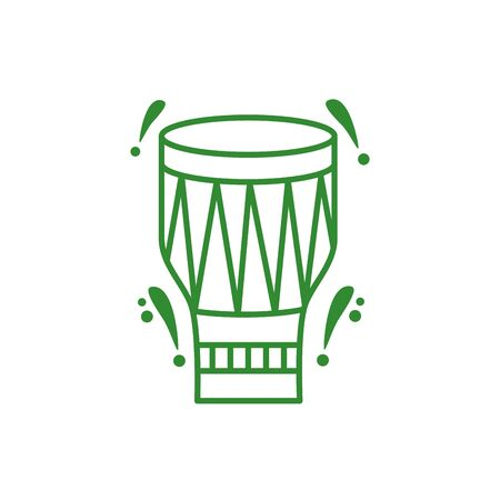 drum tropical instrument isolated icon vector illustration design