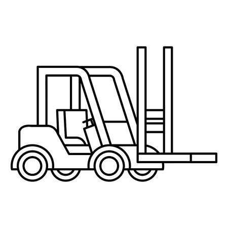 forklift design, Delivery logistics transportation shipping service warehouse industry and global theme Vector illustration Ilustracja