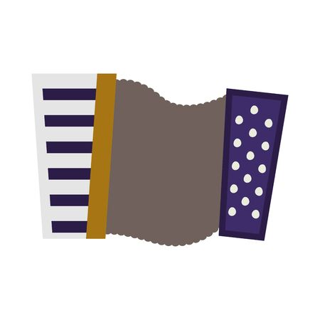 musical accordion instrument fill style icon vector illustration design