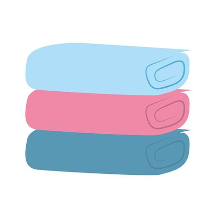 pile of towels isolated icon vector illustration design