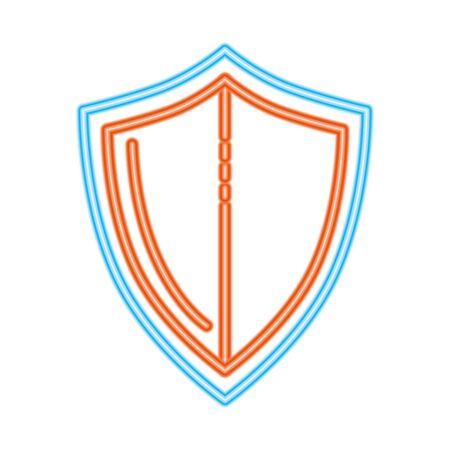 protect guard shield, line style concept vector illustration design