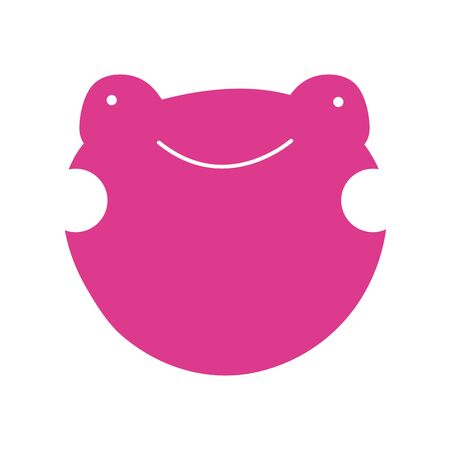 cute little frog character icon vector illustration design