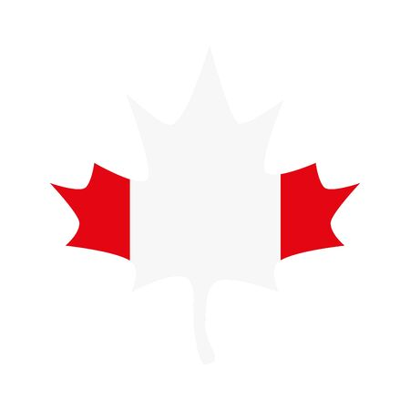 Canadian flag maple leaf design, Happy canada day holiday and national theme Vector illustration Vectores