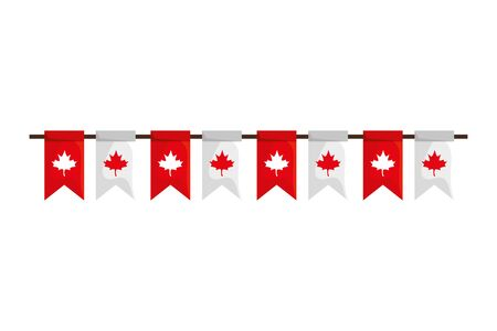 Canadian banner pennant design, Happy canada day holiday and national theme Vector illustration