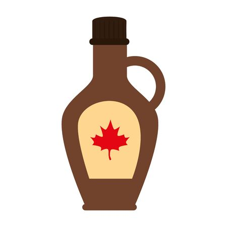 Canadian maple syrup design, Happy canada day holiday and national theme Vector illustration