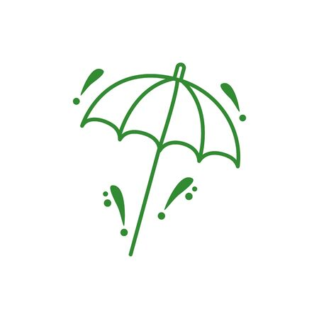 umbrella protection accessory isolated icon vector illustration design Stock Illustratie