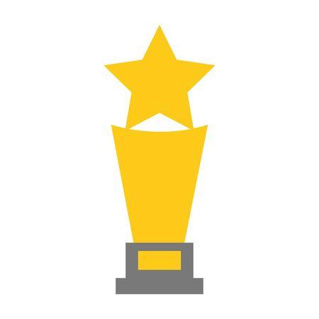 trophy award star on white background vector illustration Ilustração