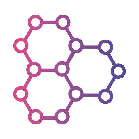dna molecule structure medical symbol linear gradient style icon vector illustration design