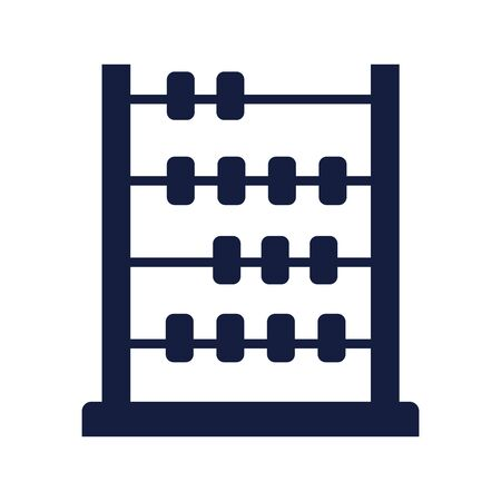 abacus math silhouette style vector illustration design