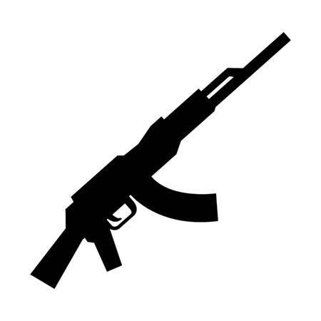 soldier rifle weapon isolated icon vector illustration design