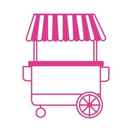 kiosk shop market isolated icon vector illustration design