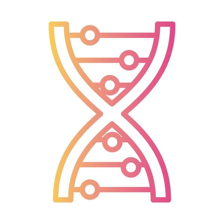 dna molecule medical symbol linear gradient style icon vector illustration design