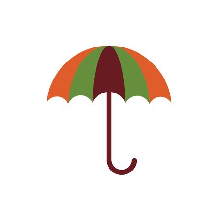 umbrella summer flat style icon vector illustration design