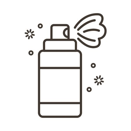 spray bottle medical product line style vector illustration design