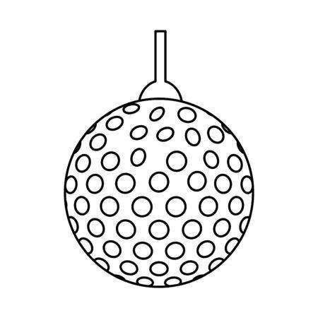disco lights ball isolated icon vector illustration design