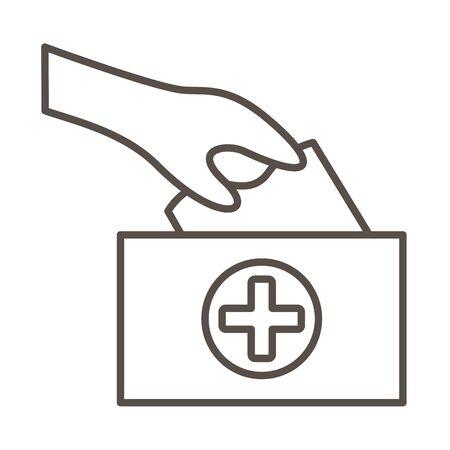 damp cloths medical line style icon vector illustration design 矢量图像