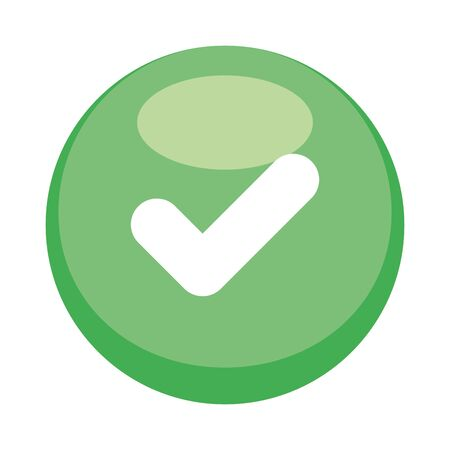 Check mark button icon design, Ok tick choice correct approved choose vote positive and web theme Vector illustration