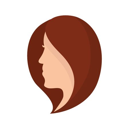 beautiful woman head isolated icon vector illustration design