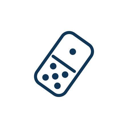 domino piece child toy fill style icon vector illustration design