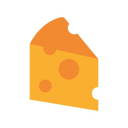 delicious cheese portion isolated icon vector illustration design
