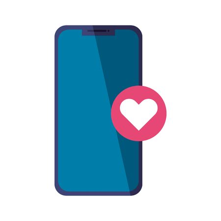 Smartphone and heart icon design, Cellphone mobile digital and phone theme Vector illustration Vectores