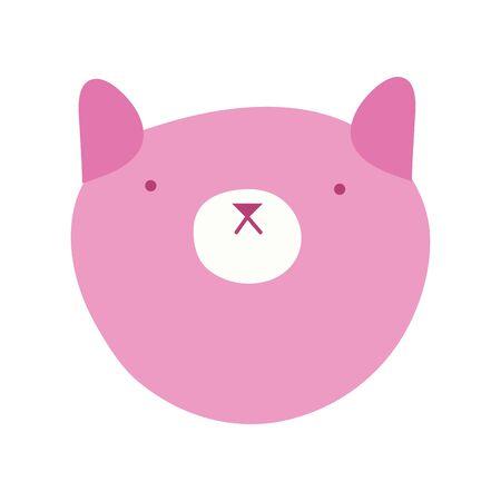 cute little cat mascot character vector illustration design Vettoriali