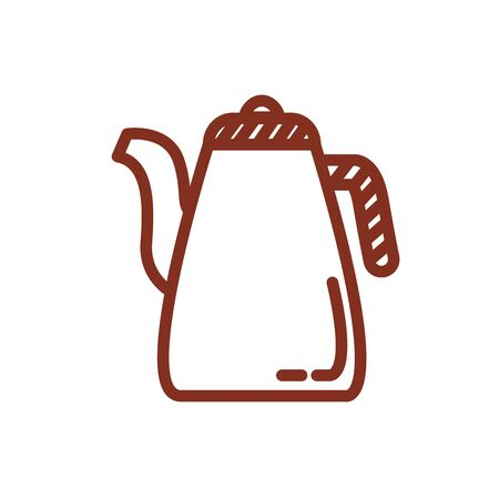 coffee in teapot drink line style icon vector illustration design Stock Illustratie