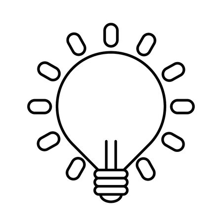 bulb light idea isolated icon vector illustration design