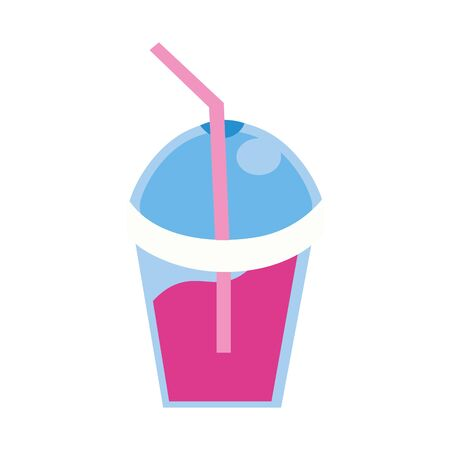 milkshake cup with straw icon vector illustration design