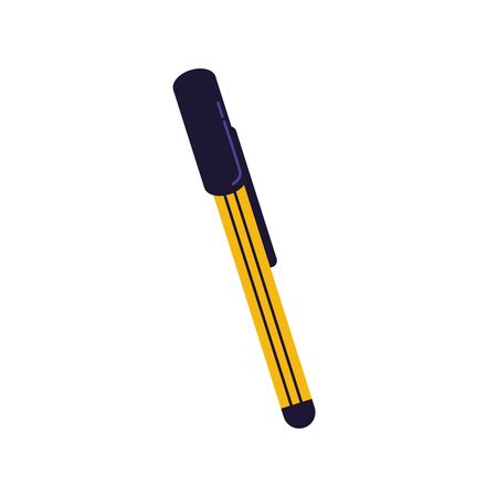 pen school supply isolated icon vector illustration design