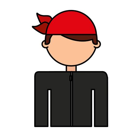 motorcyclist avatar character icon vector illustration design 矢量图像
