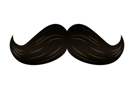 elegant mustache male accessory icon vector illustration design