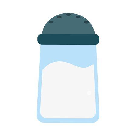 salt container food outline vector illustration design Vettoriali