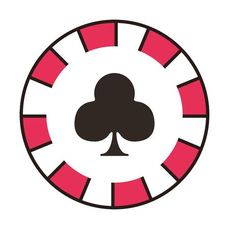 casino chip with clover isolated icon vector illustration design 일러스트
