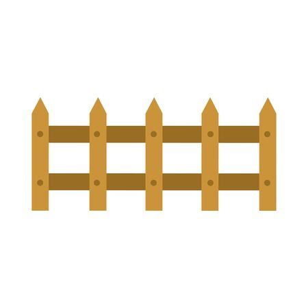 farm fence design, agronomy lifestyle agriculture harvest rural farming and country theme Vector illustration