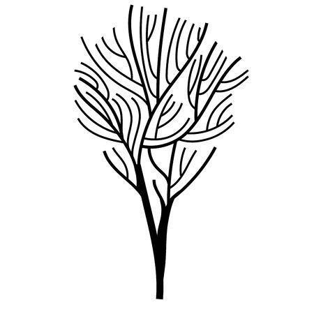 dry tree plant autumn icon vector illustration design