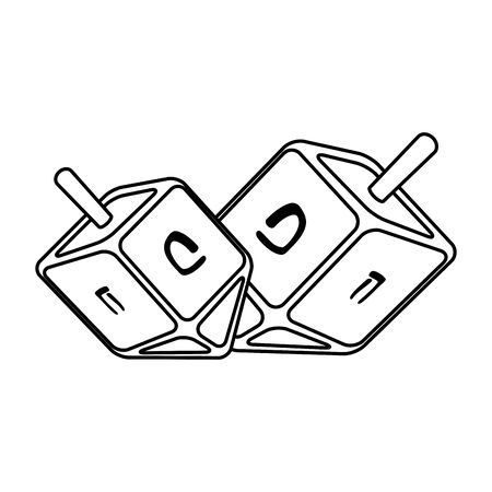 happy hanukkah pirinola game icon vector illustration design
