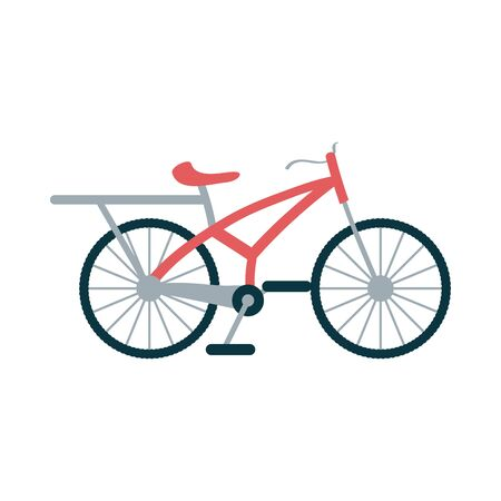 red bike design, Vehicle bicycle cycle healthy lifestyle sport and leisure theme Vector illustration