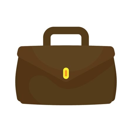 Suitcase bag design, Case office school university travel baggage luggage handle leather and trip theme Vector illustration