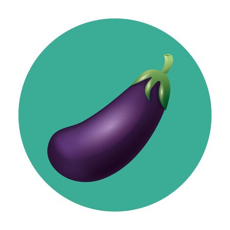 eggplant design, Vegetable organic food healthy fresh natural and market theme Vector illustration