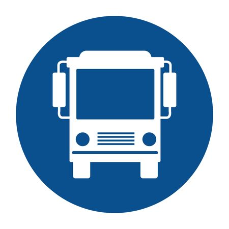 bus stop sign on white background vector illustration design  イラスト・ベクター素材