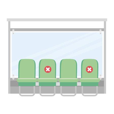 bus on bus stop, public urban transport vector illustration design