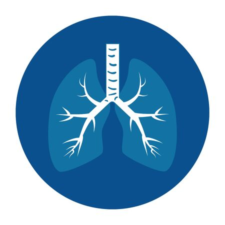 lungs, internal organ of the human, anatomy medicine concept vector illustration design