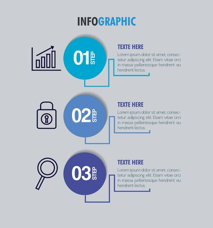 infographic template with business icons concept vector illustration design