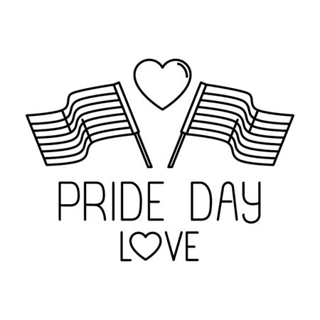 lgbt flag design, Pride day love sexual orientation and identity theme Vector illustration