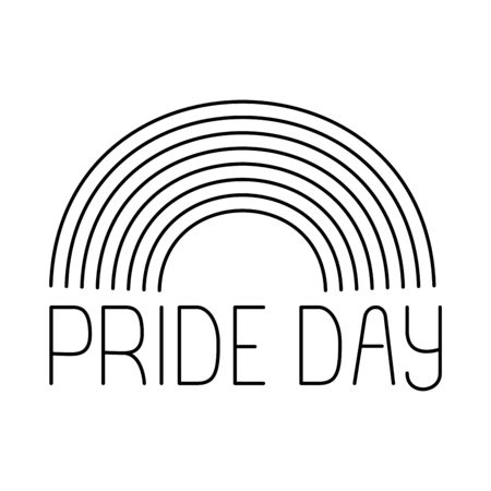 rainbow design, Pride day love sexual orientation and identity theme Vector illustration Vectores